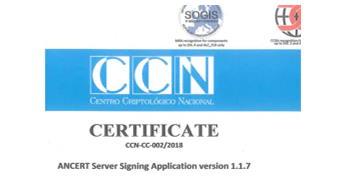 Logo Certificado del Centro Criptológico Nacional